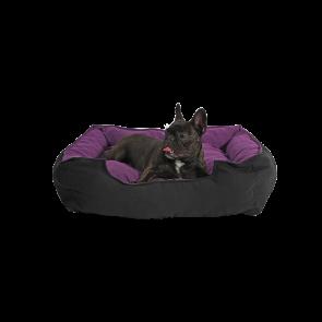 Culcus marime M pentru caine sau pisica, Husa detasabila, Interior IMPERMEABIL - Pufrelax Pets, Mulberry