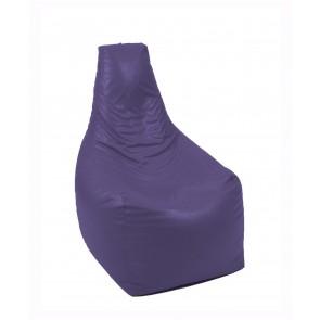 Fotoliu Pufrelax Sunlounger Evo XL  - Indigo (piele eco) umplut cu perle polistiren