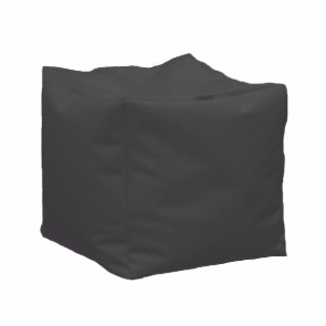 Fotoliu Taburet Cub - Dark Grey (GAMA PREMIUM PU) umplut cu perle polistiren