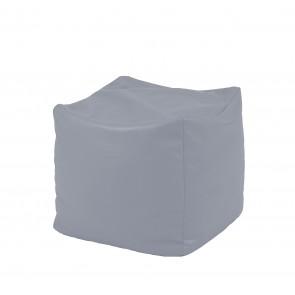 Fotoliu Taburet Cub - Panama Grey (pretabil si la exterior) umplut cu perle polistiren