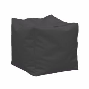 Fotoliu Taburet Cub XL - Dark Grey (GAMA PREMIUM PU) umplut cu perle polistiren