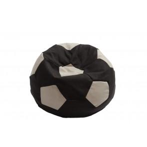 Fotoliu Puf Minge Telstar Junior - Black & Cream (Gama Premium) cu husa detasabila, cu husa detasabila