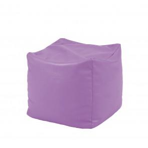 Fotoliu (Mic) Taburet Cub XL - Violet (piele eco) umplut cu perle polistiren (beanbag marca Pufrelax) Fabricat in Romania