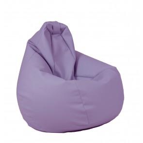 Fotoliu Puf tip Sac Nirvana Hobbit - Violet (piele eco) umplut cu perle polistiren