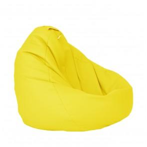 Fotoliu Puf tip Sac Nirvana Grande - Panama Yellow Quince (pretabil si la exterior) umplut cu perle polistiren