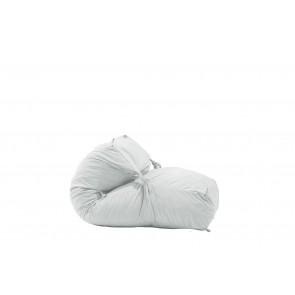 Fotoliu Pufrelax Yoga L - Angora Grey (Gama Premium) umplut cu fulgi de burete memory mix®