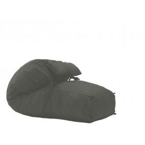 Fotoliu Pufrelax Yoga L + Perna - Moon Grey (Gama Premium) umplut cu fulgi de burete memory mix®