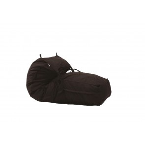 Fotoliu Pufrelax Yoga Minnie - Dark Chocolate (Gama Premium Textil) umplut cu fulgi de burete memory mix®