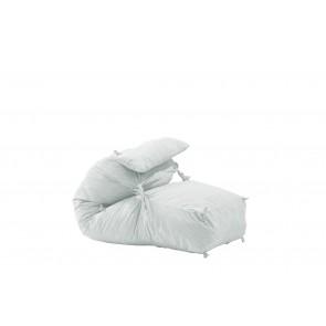 Fotoliu Pufrelax Yoga Minnie + Perna - Angora Grey (Gama Premium) umplut cu fulgi de burete memory mix®