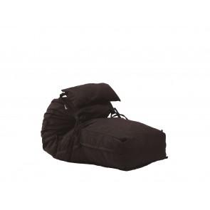 Fotoliu Pufrelax Yoga Minnie + Perna - Dark Chocolate (Gama Premium Textil) umplut cu fulgi de burete memory mix®