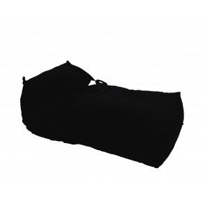 Fotoliu Pufrelax Yoga XL - Teteron Black (pretabil si la exterior) umplut cu fulgi de burete memory mix®