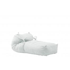 Fotoliu Pufrelax Yoga XL - Angora Grey (Gama Premium) umplut cu fulgi de burete memory mix®