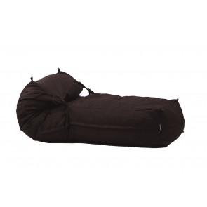 Fotoliu Pufrelax Yoga XL - Dark Chocolate (Gama Premium Textil) umplut cu fulgi de burete memory mix