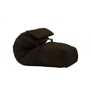Fotoliu Pufrelax Yoga XL + Perna - Dark Chocolate (Gama Premium Textil) umplut cu fulgi de burete memory mix